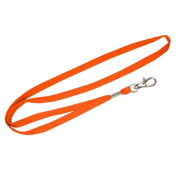 Schlauchband 10 mm in orange mit Karabinerhaken