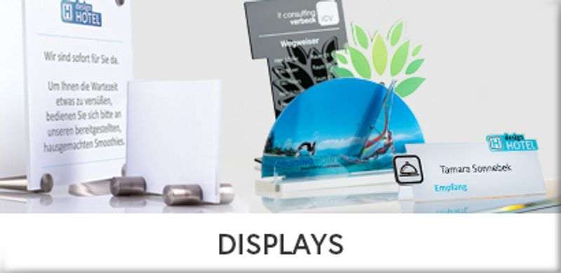 Displays und Tischaufsteller
