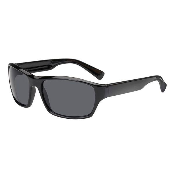 Sonnenbrille Bügel und Rahmen in schwarz