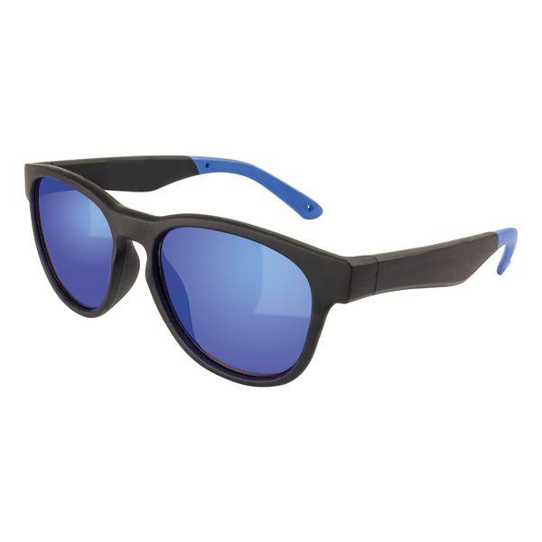 Sonnenbrille Gläser verspiegelt Bügelenden in blau