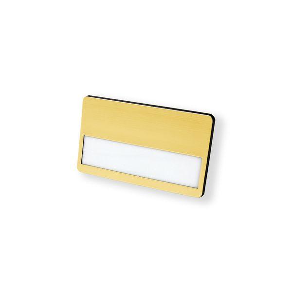 Kunststoff-Namensschild, goldfarbig Citec® Magnet