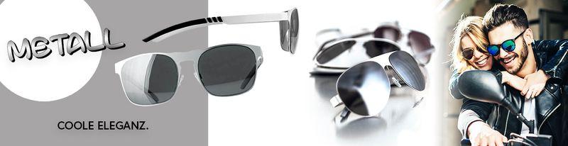 Metall-Sonnenbrillen - edles Material für colle Eleganz