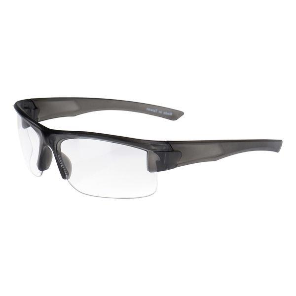 Moderne Schutzbrille, schwarz-transparent