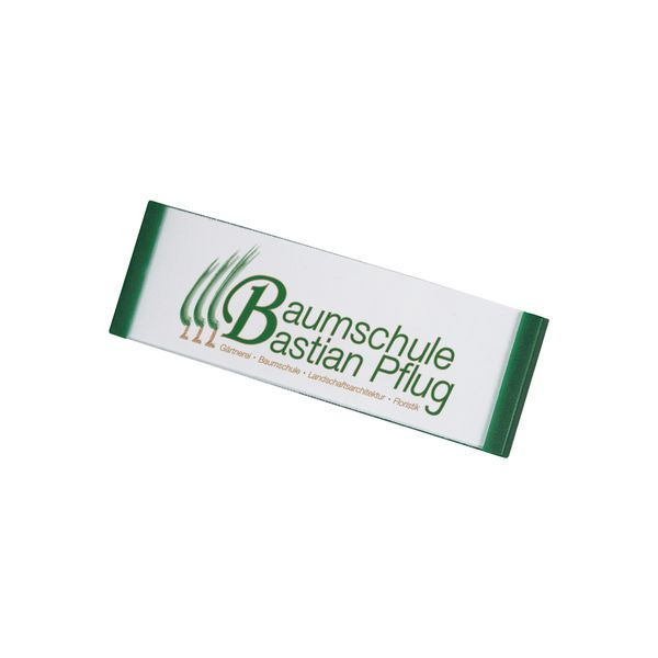Kunststoff Namensschild, gewölbt, grün, 68 x 22 mm