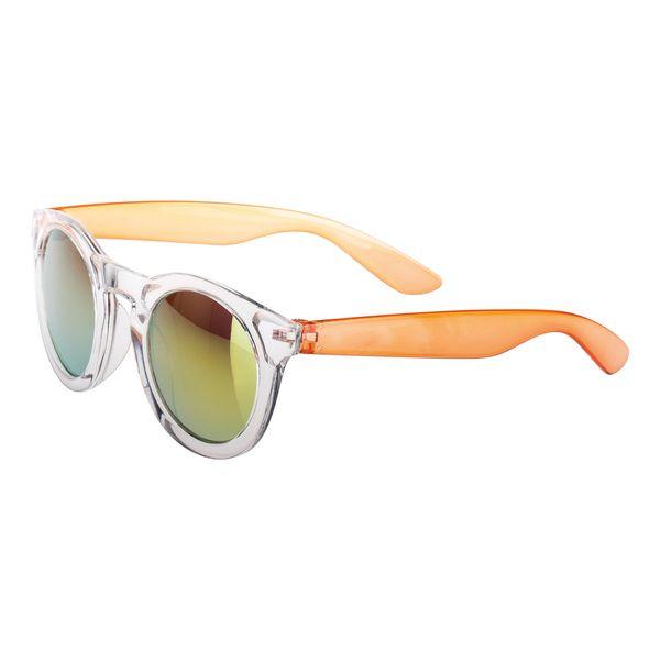 Sonnenbrille transparenter Rahmen farbige Bügel