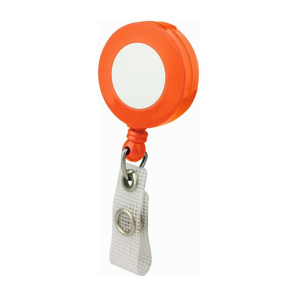 Kunststoff-Skipasshalter mit Stahlklemmbügel 32 mm