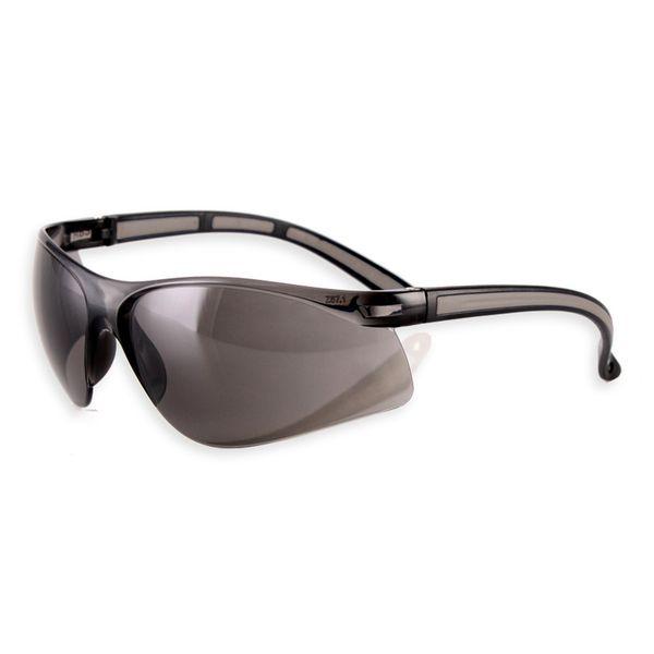 Moderne Schutzbrille - mit Zierstreifen in grau
