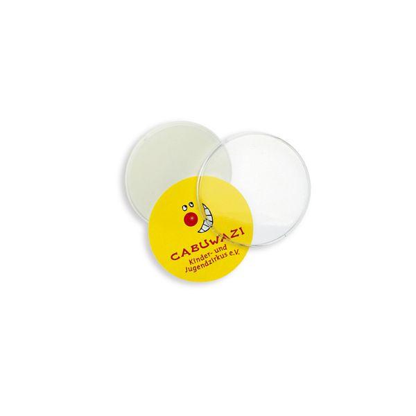 Kunststoff-Button, weiß