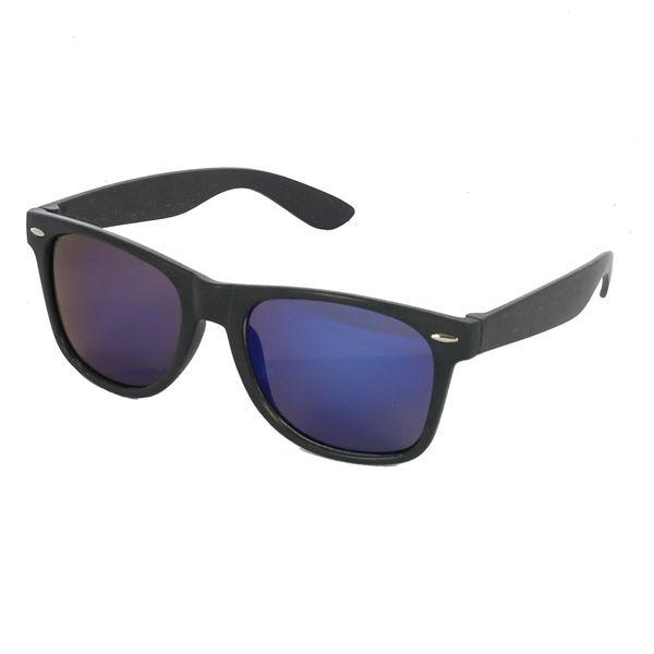 Weizenstroh Sonnenbrille in schwarz