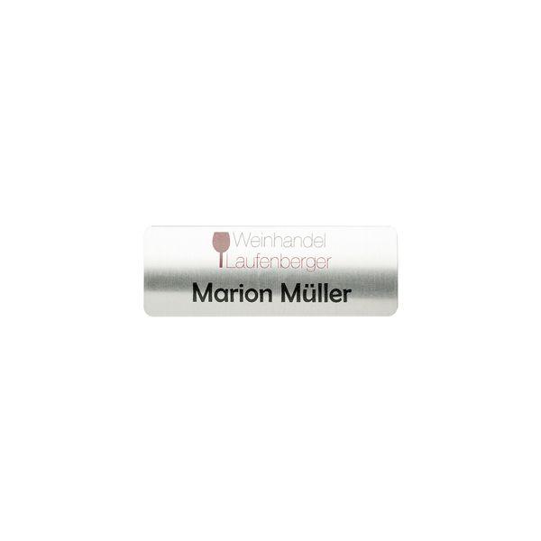 Vollmetall-Namensschild gewölbt 70 x 25 mm