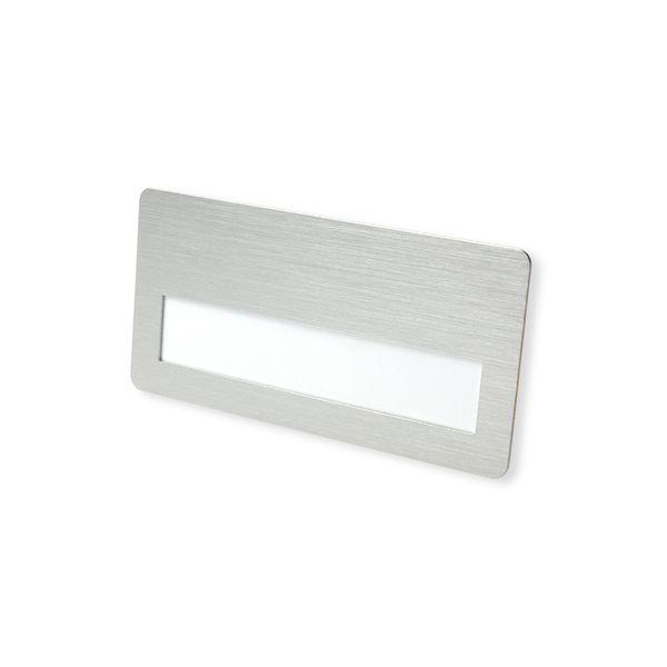Metall-Namensschild silberfarbig Klammer drehbar