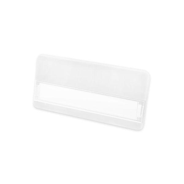 Kunststoff-Namensschild in weiß