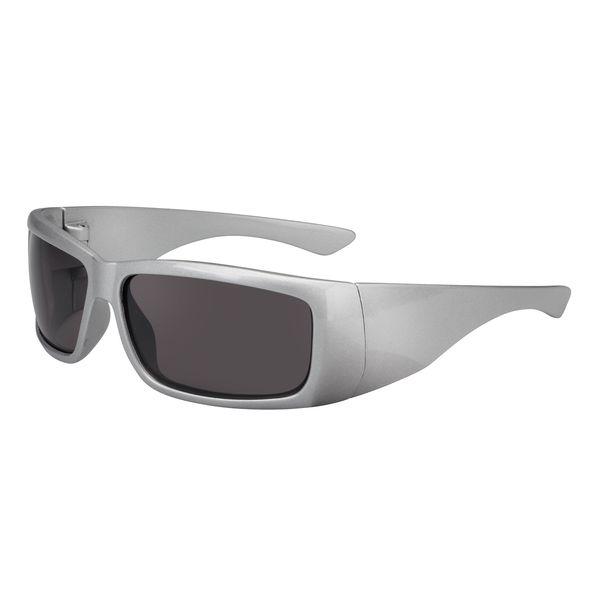Sonnenbrille Bügel und Rahmen silberfarbig UV-400