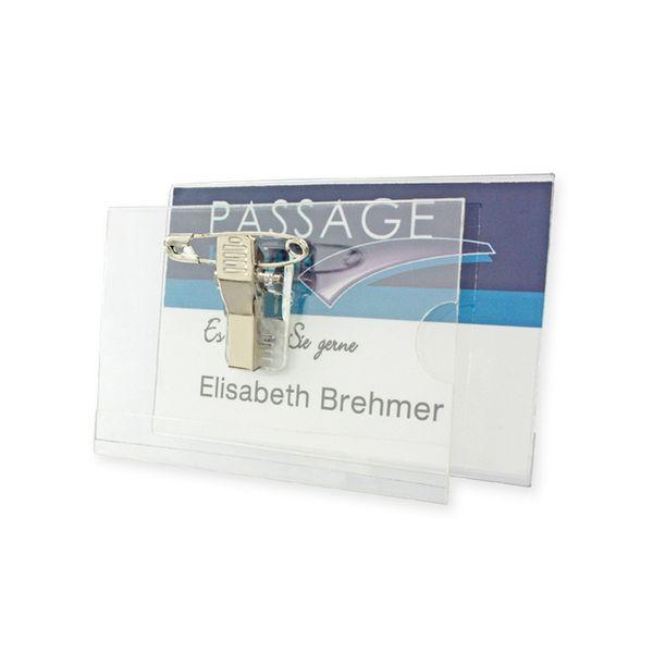 Namensschild transparent Einlage 80 x 50 mm