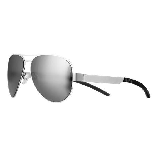 Sonnenbrille mit Metallbügeln in matt