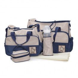 Σετ Βρεφική Τσάντα/Τσάντα Αλλαξιέρα/Θερμός Stella Blue Cangaroo