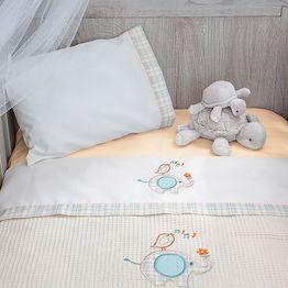 Σεντόνια Κούνιας (Σετ) Baby Oliver Elephant Des 140