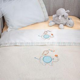 Κουβέρτα Πικέ Κούνιας Baby Oliver Elephant Des 140