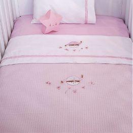 Κουβέρτα Πικέ Κούνιας Baby Oliver Pink Booboo Des 142