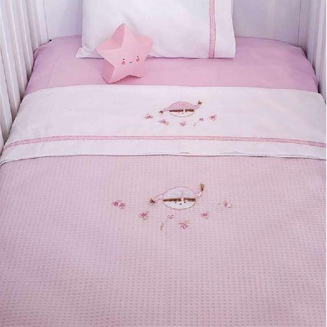 Κουβέρτα Πικέ Αγκαλιάς Baby Oliver Pink Booboo Des 142