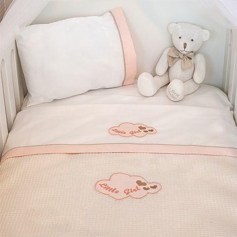 Κουβέρτα Πικέ Κούνιας Baby Oliver Little Girl Des 144