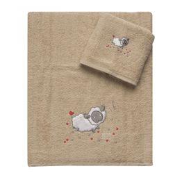 Πετσέτες Σετ 2 τεμ Βαμβάκι 100% 5075 Μπεζ Beauty Home