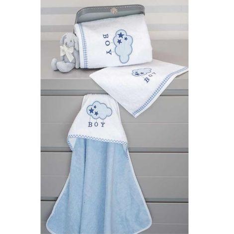 Baby Oliver Σετ πετσέτες 2τμχ Blue cloud des.143