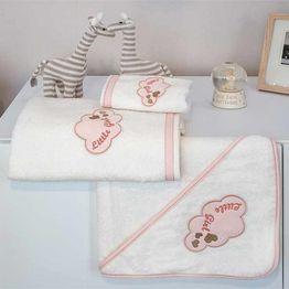 Baby Oliver Σετ πετσέτες 2τμχ Little girl des.144