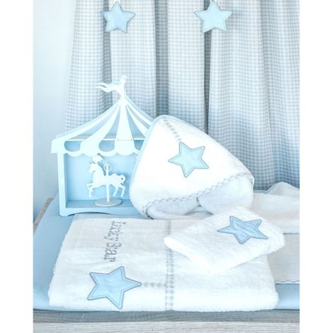 Baby Oliver Μπουρνούζι κάπα Lucky star white des.309