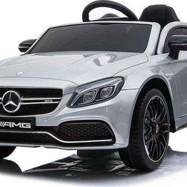 Ηλεκτροκίνητο Αυτοκίνητο 12V Mercedes Benz C63s QY1588 Silver Moni