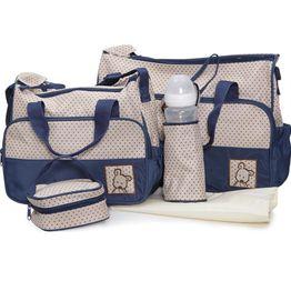 Σετ βρεφική τσάντα Τσάντα αλλαξιέρα Θερμός Stella Dark Blue Cangaroo