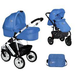 Πολυμορφικό βρεφικό καρότσι Lorelli Monza 3 2 in 1 Blue