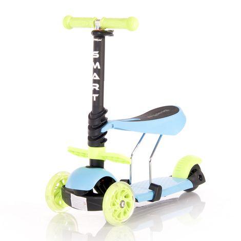 Πατίνι Smart Scooter με κάθισμα Blue & Green Lorelli