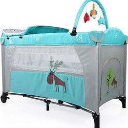 Παρκοκρέβατο Happy Baby Chicks Blue 2 Επιπέδων Cangaroo