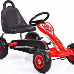 Παιδικό Αυτοκινητάκι Go Kart Falcon 6605 with Air Wheels Red Cangaroo