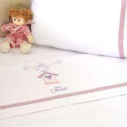 Σετ Σεντόνια Κούνιας 3 τμχ Baby Oliver Lilac Dream Birds Design 300