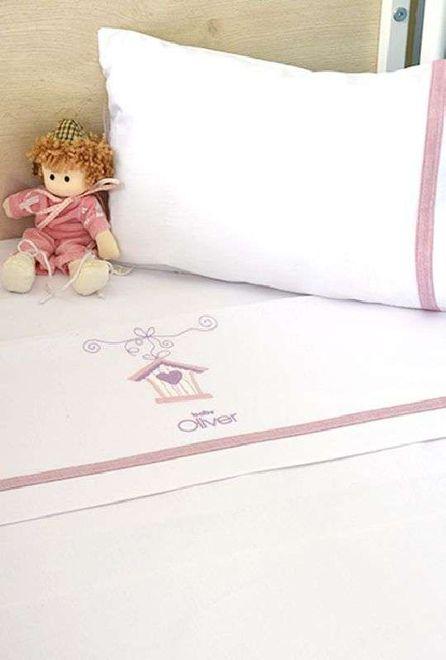 Σετ Σεντόνια Λίκνου 3 τμχ Baby Oliver Lilac Dream Birds Design 300