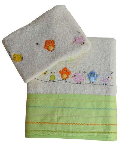 Σετ βρεφικές πετσέτες Little birds Bebe Stars