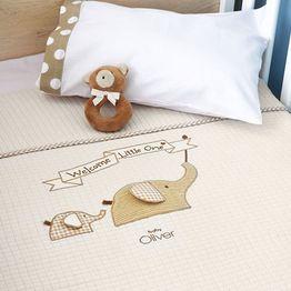 Κουβέρτα Πικέ Αγκαλιάς Welcome Little One Design 302 Baby Oliver