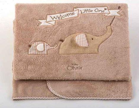Κουβέρτα Fleece Αγκαλιάς Welcome Little One Design 302 Baby Oliver