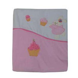 Κουβέρτα Bελουτέ Αγκαλιάς 106 x 86 cm Cupcake Bebe Stars