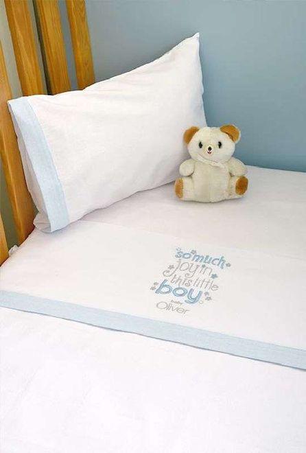 Σετ Σεντόνια Καλαθούνας Λίκνου My Little Blue Joy Design 303 Baby Oliver