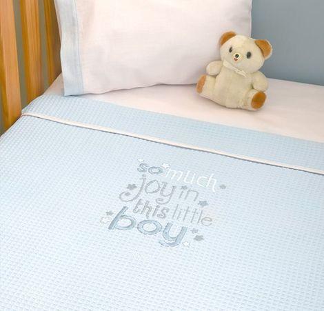 Κουβέρτα πικέ κούνιας My Little Blue Joy Design 303 Baby Oliver