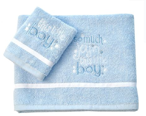 Σετ Πετσέτες Βρεφικές 2 Τεμ My Little Blue Joy Design 303 Baby Oliver