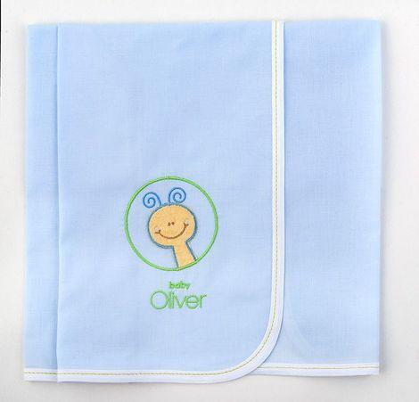 Πάνες Φανελένιες με Κέντημα Σχέδιο 231 Baby Oliver