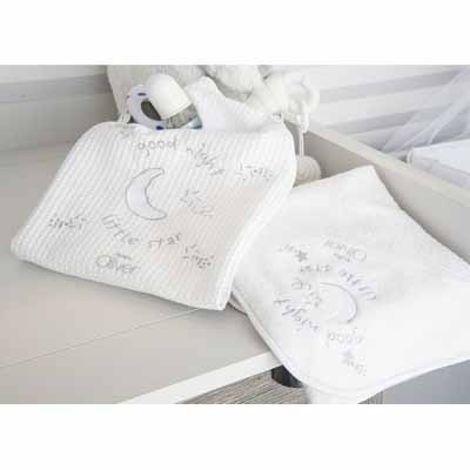 Κουβέρτα πικέ κούνιας Silver Moon 609 baby oliver -