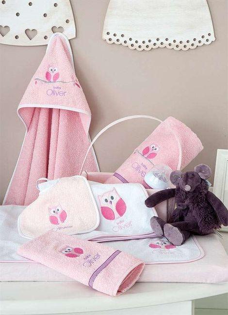 Μπουρνούζι Κάπα Sweet Owl Pink Design 630 Baby Oliver