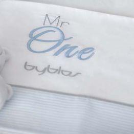 Σετ σεντόνια βρεφικά κούνιας Design 82 Mr One Blue Byblos