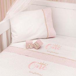 Βρεφική Κουβέρτα Αγκαλιάς Πικέ Design 83 One Pink Byblos