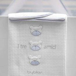 Βρεφική Κουβέρτα Κούνιας Πικέ Design 80 Amici Blue Byblos